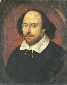 William Shakespeare, the great playwright who was one of many leading lights in the Elizabeth Golden Age.