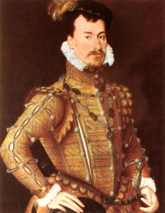Robert Dudley, the love of Elizabeth's life and a cause of scandal at court.