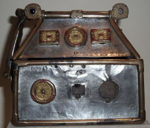The Monymusk Reliquary, containing the holy relics of St Columba.