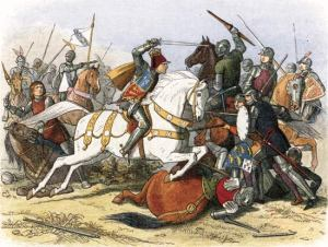 The Battle of Bosworth, where Sir Marmaduke was a spectator