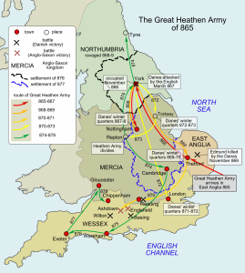 The activity (in England) of the Great Heathen Army