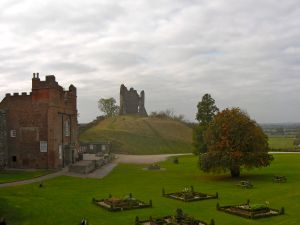 Tutbury Castle, where later Mary Queen of Scots would be held captive