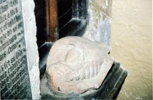 The frog depicted on Marmaduke's tomb