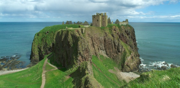 The dramatic location for Dunnottar Castle - presumably Donald met his end somewhere nearby
