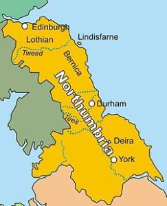 The once-powerful kingdom of Northumbria. Constantine fought the Vikings at Corbridge in Bernicia.