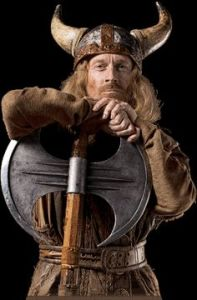 Erik Bloodaxe (depicted with an a-historical horned helmet)