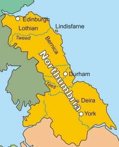 Edinburgh used to be part of Northumbria but now became Scottish territory