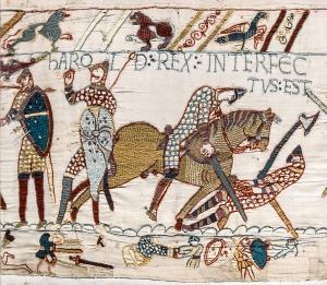 The much-debated death scene of Harold II - is he on the left or the right? Or both!