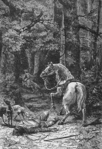 William Rufus, struck by an arrow in the New Forest