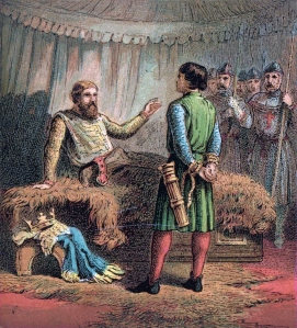 Richard the Lionheart, not so dramatically meeting his end.