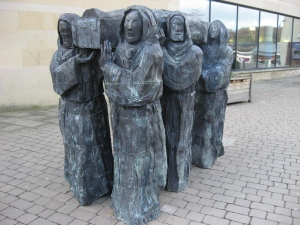 Monks carrying the body of St Cuthbert
