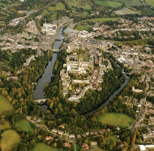 A view of Durham from the air