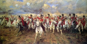The charge of the Scots Greys against d'Erlon
