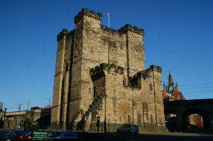 The keep of Newcastle - built on the site where Robert Curthose esablished a wooden castle to help secure Northumbria vs. Malcolm III