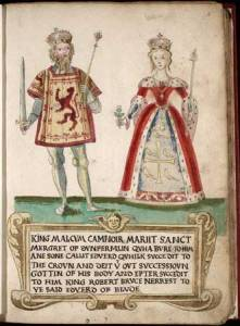 Malcolm III and Queen Margaret of Wessex
