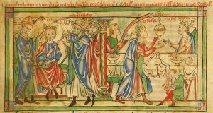The coronation of Henry the Young King in 1170