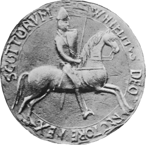 The seal of William the Lion, emphasising his status as a knight