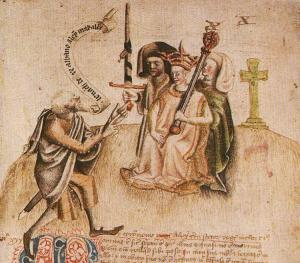 The coronation of Alexander III, with a Gaelic bard proclaiming his lineage