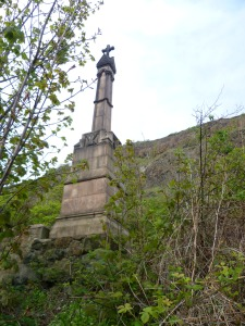 The monument to Alexander III at Kinghorn, where he fell to his death in 1286