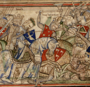 Harald Hardrada in action at the Battle of Stamford Bridge