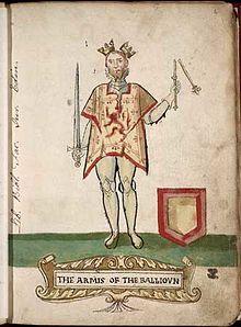 John Balliol would be stripped of his royal regalia and nicknamed Toom Tabard