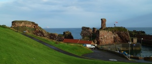 Dunbar Castle, where the Scots were defeated in the only battle of 1296