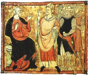 Henry II with Thomas Becket