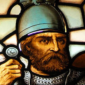 William Wallace (as portrayed in stain glass in his own monument)