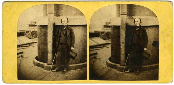 The last photo taken of Brunel - he suffered a stroke just minutes later