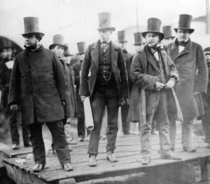 Brunel looking nervous at the failed attempt to launch the Great Eastern