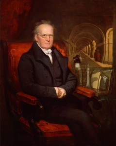 Marc Brunel, Isambard's father with the Thames Tunnel behind