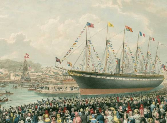 The launching of the SS Great Britain